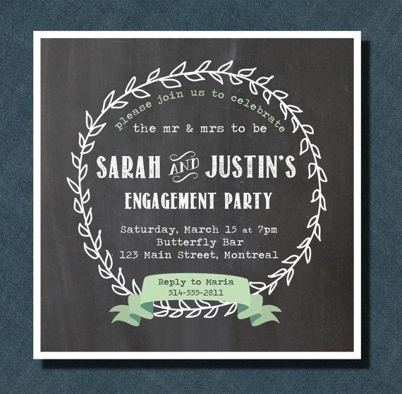Round Chalkboard Engagement Party on Etsy, $2.27 CAD