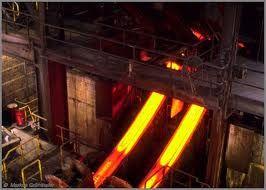 continuous casting of liquid steel