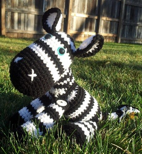 This is so gonna be for my new grandbaby......  Amigurumi Zebra - Stuffed Animal Squishy | titaniastrinkets - Crochet on ArtFire