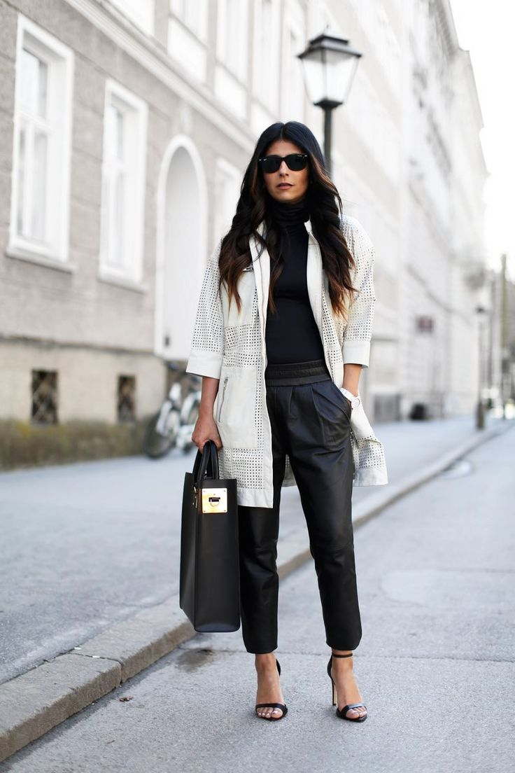 fashion-landscape.com | Gestuz Leather Perforated Jacket