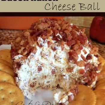 Bacon Ranch Cheese Ball... I do believe this screams Football Sunday!