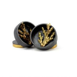Felix Gill, Sticks and Stones, Cufflinks, 925 Sterling Silver, 9ct Gold, Road Stone - $1,200