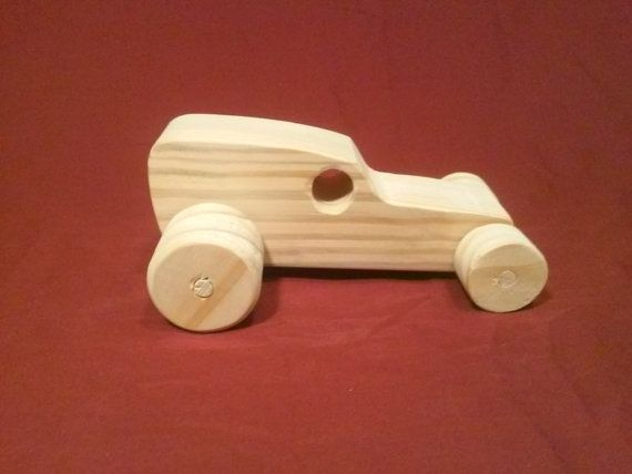 Items similar to Wood Toy Car Hotrod Choptop Sedan on Etsy