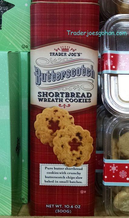 Trader Joe's Butterscotch Shortbread Wreath Cookies 10.6oz/300g $5.99 トレーダージョーズ バタースコッチ ショートブレッド リースクッキー