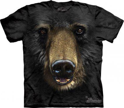 Black Bear Face - koszulka z misiem. Koszulki ze zwierzętami, największy wybór - sklep internetowy veoveo.pl