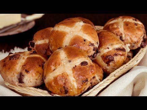Chocolate Chunk Hot Cross Buns :: Home Cooking Adventure