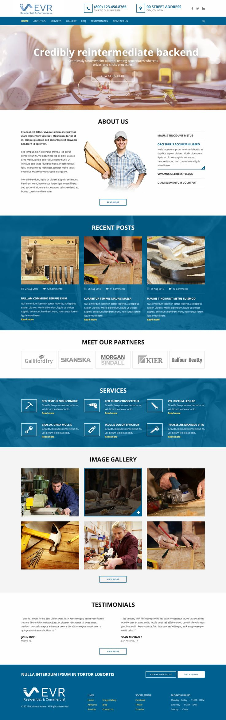 Responsive web design with SEO and social media integration for construction business. If you're looking for a website for your business at an affordable price, please visit http://AffordableWebsites.ca     #website #webdesign #webdevelopment