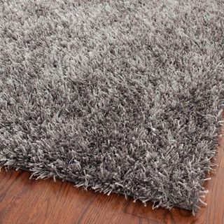 safavieh handmade new orleans shag grey textured polyester area rug 4u0027 x 6u0027 by safavieh