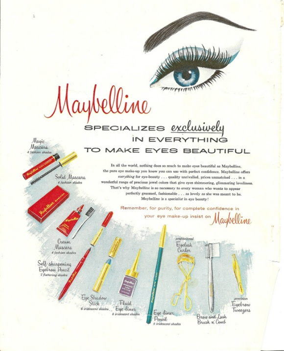 Maybelline ad, 1960.  I own a copy of it.  :)Eye Makeup, Dramatic Eye, Makeup Ideas, Mad Men, Maybelline Ads, Vintage Beautiful, Vintage Ads, Vintage Maybelline, 1960