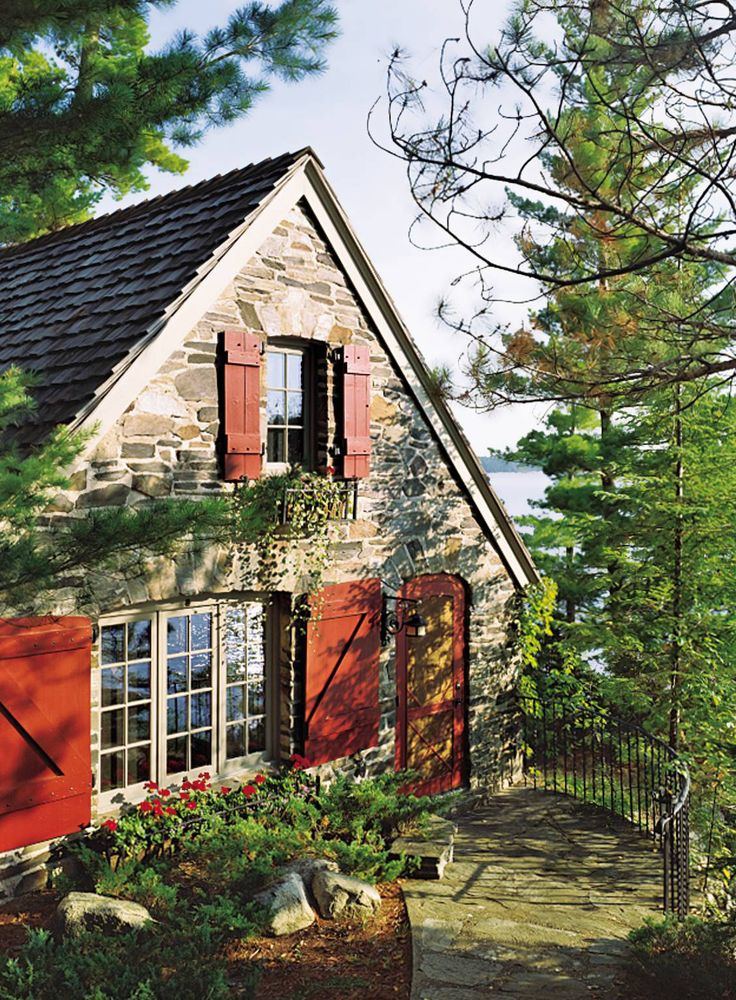 175 best paint colors images on pinterest homes antique for Brick cabin