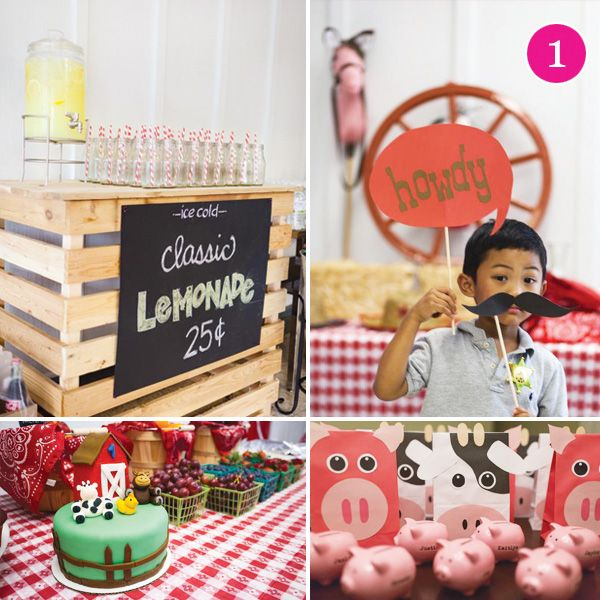 {Party of 5} Barnyard Party, Money Dessert Table, Strawberry Shortcake, Olympic Party & Fireman Birthday