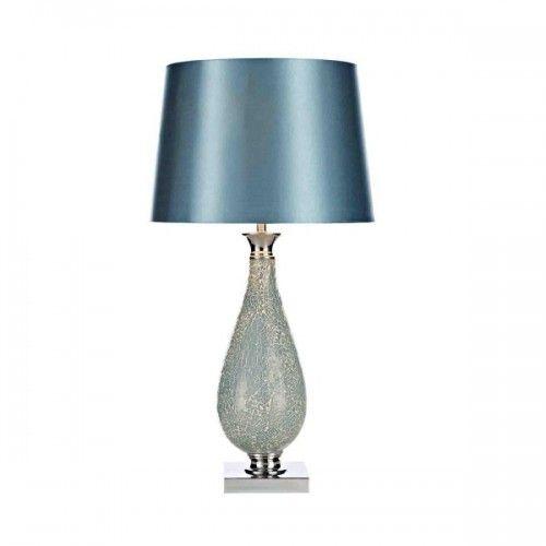Wisebuys HOG4223 Hogan Blue Mosaic Table Lamp with Shade (Dar Wisebuys HOG4223) - discounthomelighting