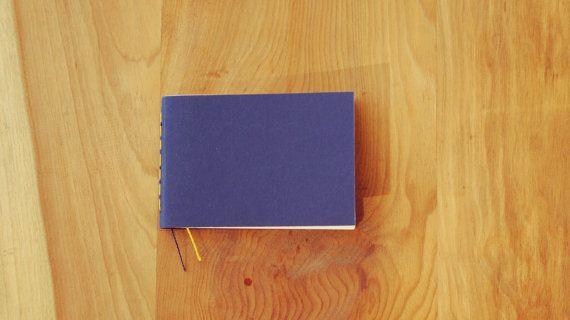 Libreta Azul encuadernada a mano tamaño por ElAlmacenDeAlima