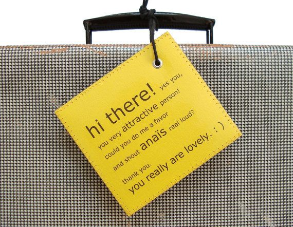 Your luggage tag could shout your name - I got my parents tags from this company :)  | 19 Genius Improvements To Everyday Products