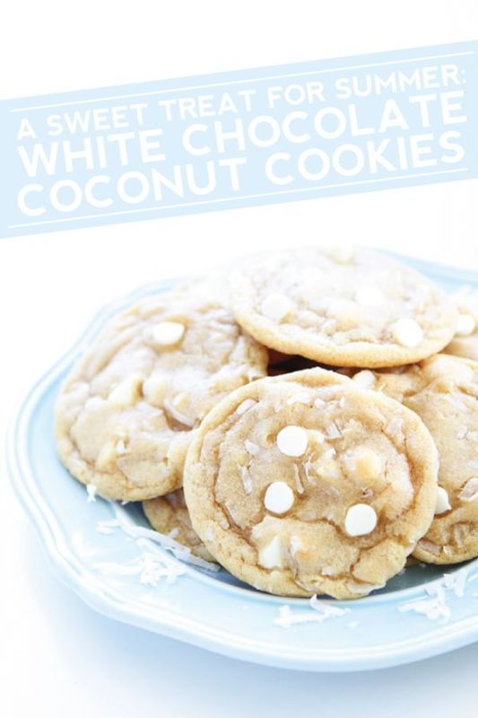 A Sweet Treat for Summer: White Chocolate Coconut Cookies   eBay
