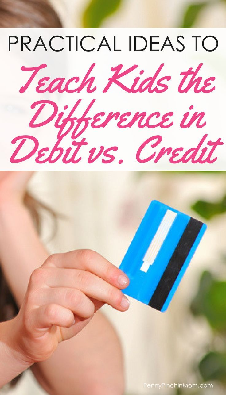 Money Advice:  Teaching kids about debt vs. credit…
