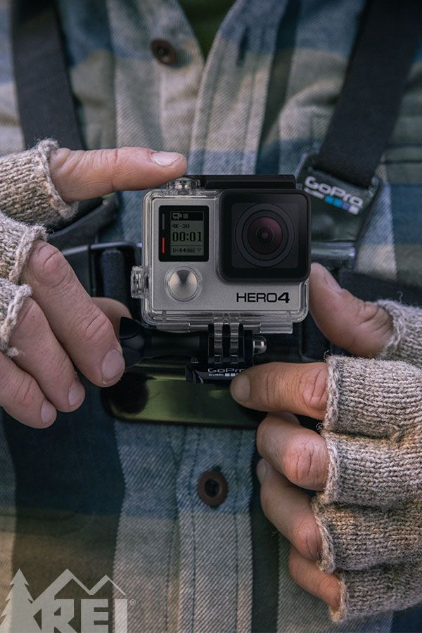 Shopping for an outdoor adventurer? Give the gift of a GoPro. Check REI.com for the right accessory package. Pictured here: the Chest Mount harness which is ideal for skiing, mountain biking and paddling.