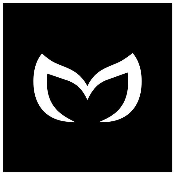 Mazda Evil M Logo Custom Car Decal by projectdecals on Etsy
