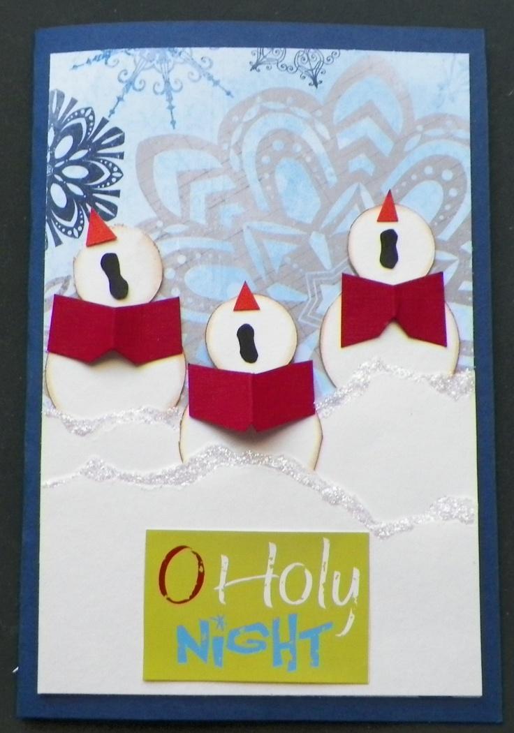 Handmade snowman christmas cards the for Handmade snowman christmas cards