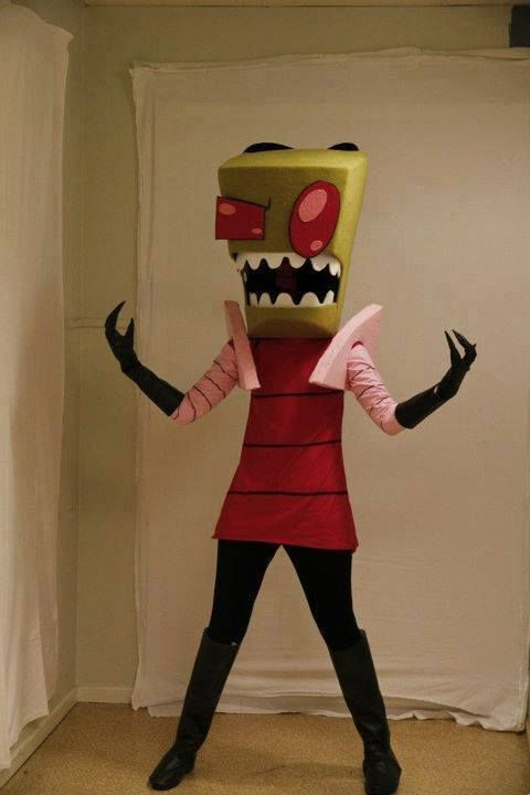 I'm totally making one of these to keep around for costume events. | Invader zim.