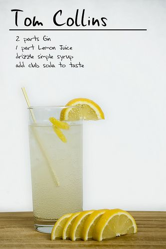 Tom Collins.  We could do one vodka, one gin.  and then the whiskey bar.