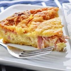Torta di patate con prosciutto e mozzarella   Cotta in padella