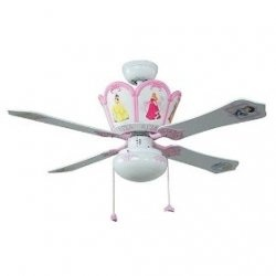 Disney Princess Bedroom Collection - might be a little much, but need to change out her dark fan for a lighter color one