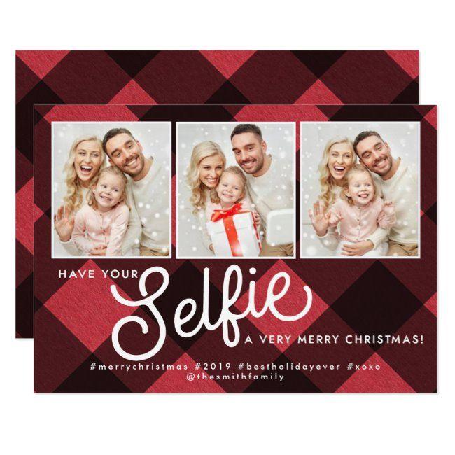 Selfie Christmas Card Selfie Holiday Card Selfie Invitation Zazzle Com Selfie Christmas Card Holiday Cards Christmas Cards