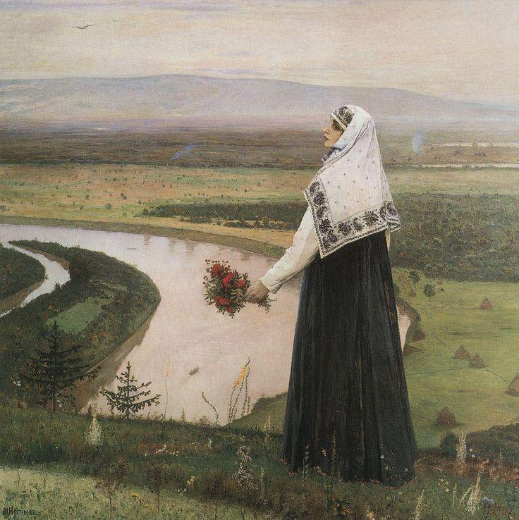 Михаил Васильевич Нестеров » Картины, живопись » На горах. 1896