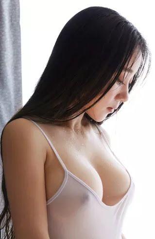 Wet horny boob