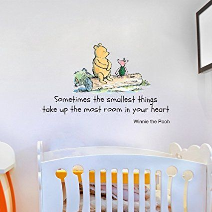 Winnie The Pooh Sometimes The Smallest Things Quote Childrenu0027s Room Kids  Room Playroom Nursery Wall Sticker Part 97
