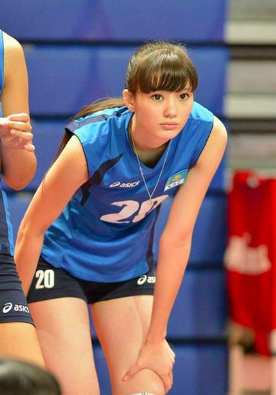 Sabina Altynbekova, volleyball player from kazakhstan