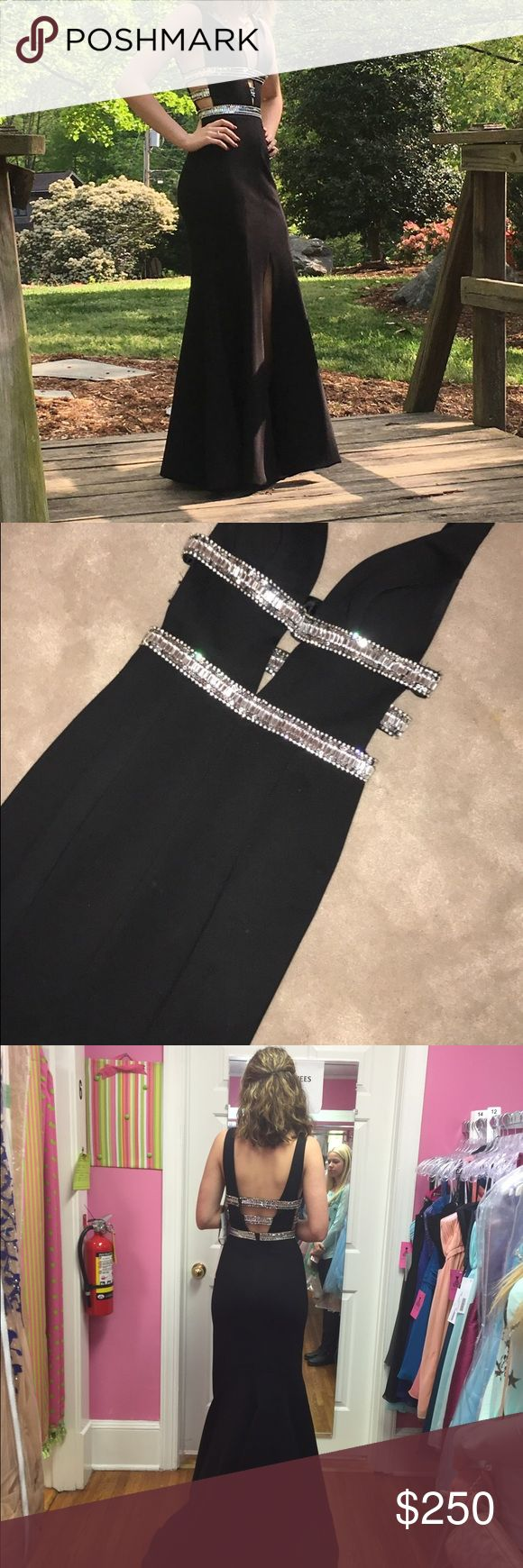 Sherri Hill Dress Long Black Sherri Hill #50184 Size 00 Dress. Perfect for Prom! Price is negotiable. Only Worn Once. Sherri Hill Dresses Prom