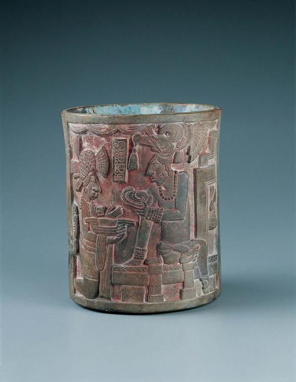 Vessel With Ceremonial Scene  .                                  Mexico, Campeche, Jaina Island (?), Maya culture, Chocholá style        Late Classic period (A.D. 600–900)        c. A.D. 690–750