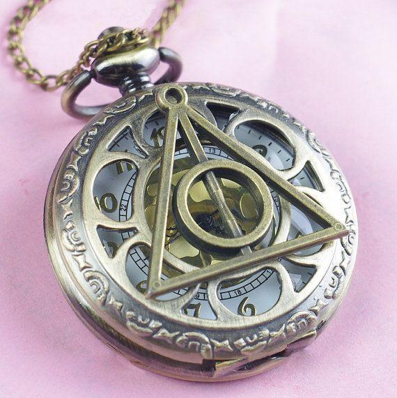 Reloj de bolsillo de las reliquias de la muerte, $4.10   56 Accesorios de Harry…