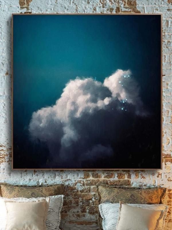 """""""Intrépide No. 3"""" Cloud Painting – Cloud Painting and Abstract Art by CORINNE M…"""