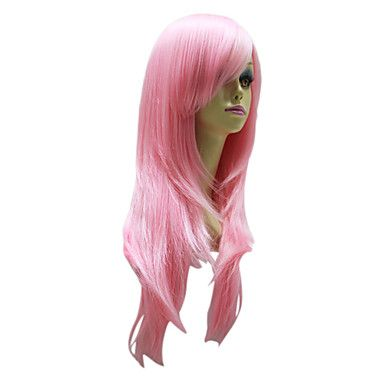 Pink Long Straight Hair Wig for Party Wig – USD $ 38.99