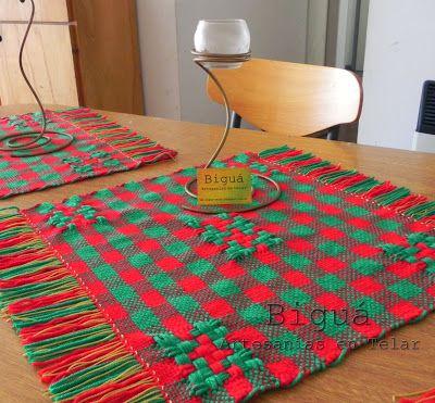 Carpeta de mesa en telar