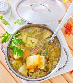 La cásica receta de sopa de papa y poro muy fácil de preparar y muy saludable.