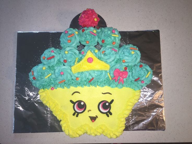 Shopkins Cupcake Queen birthday cake