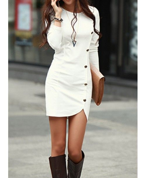 Vestido Corto Formal - Sexy Blanco