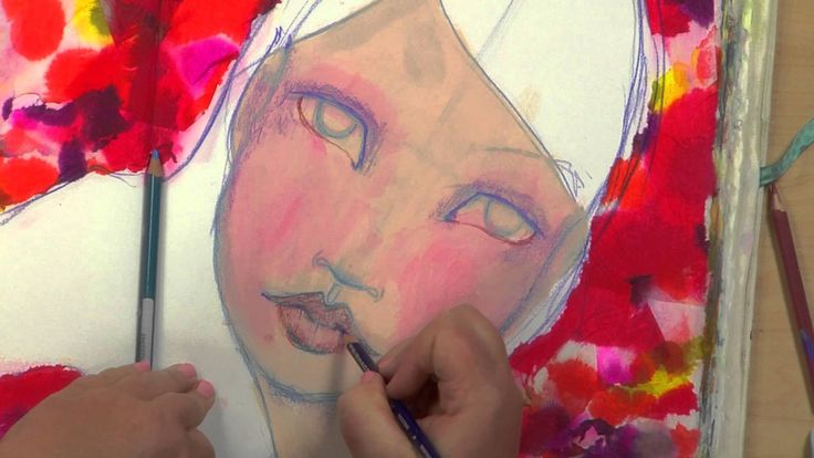 Learn how to create a whimsical face for your mixed-media artwork with the irresistible and talented artist, Jane Davenport.