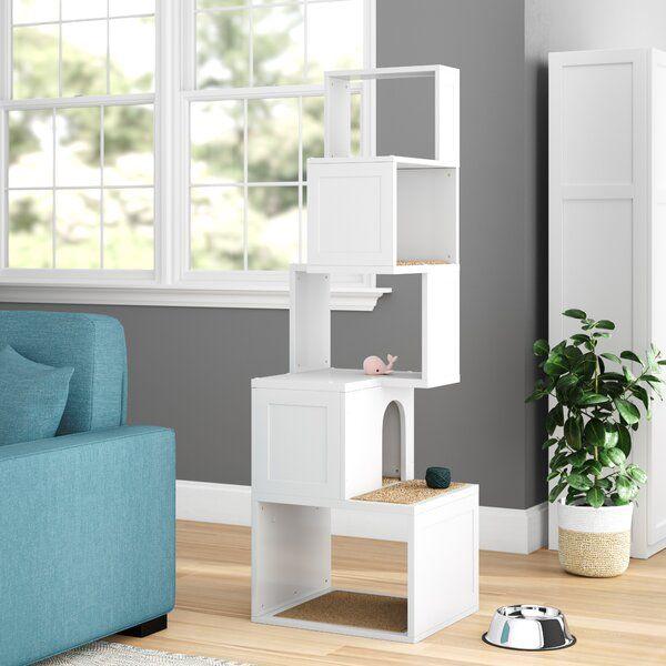 Balanchine 65 Modern Cat Tree In 2020 Modern Cat Tree Cat Tree Condo Modern Cat Furniture