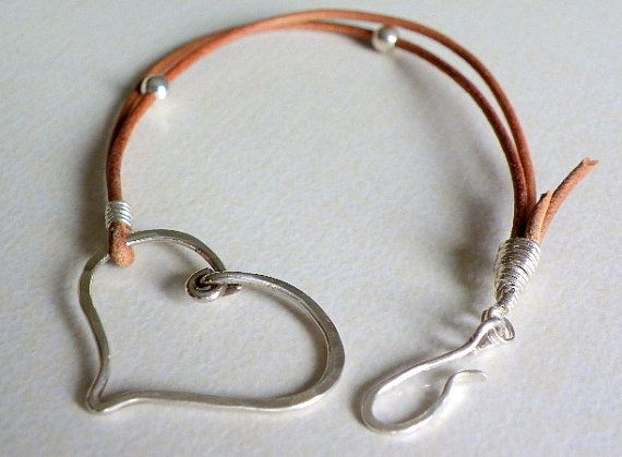 Handmade wire wrapped Leather bracelet brown by lesbijouxdeSylvie, $30.00