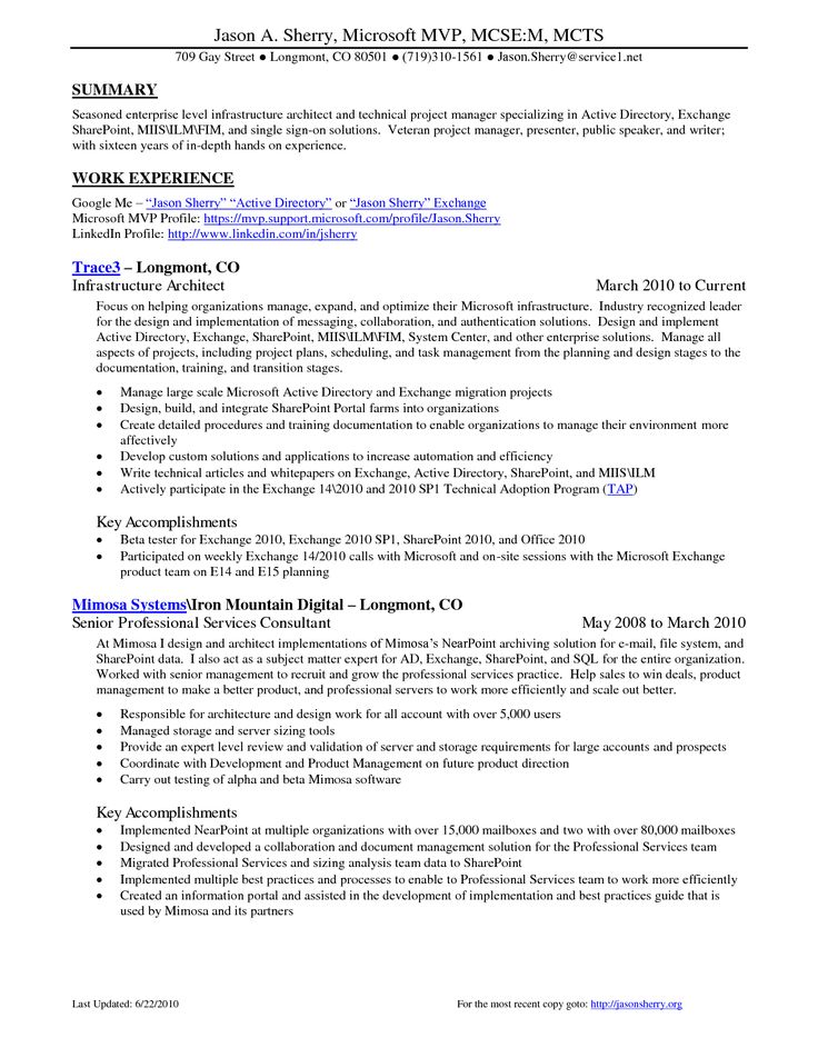 transition project manager sample resume graphics programmer cover - storage architect resume