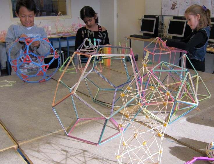 bouwen met rietjes