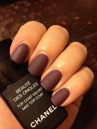 Chanel Mat nail polish.