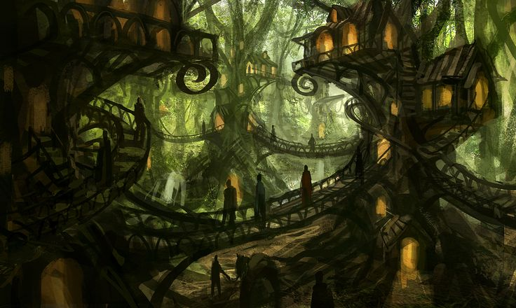 hobbit fantasy forest trees - photo #13