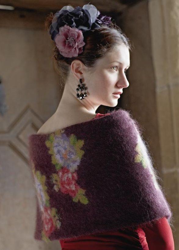 Rowan knitting patterns, Rowan Magazine 54, Berenice Wrap, from Laughing Hens