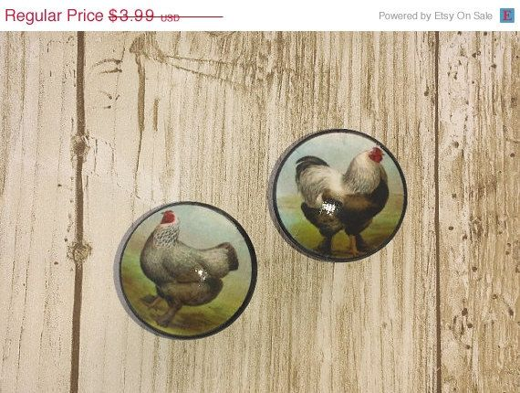 country kitchen cabinet knobs vintage inspired farmhouse hen and rooster decorative 14144